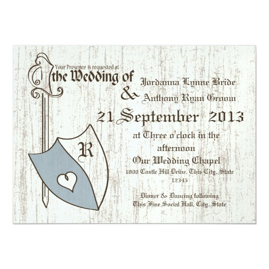 Renaissance Wedding Arms Card