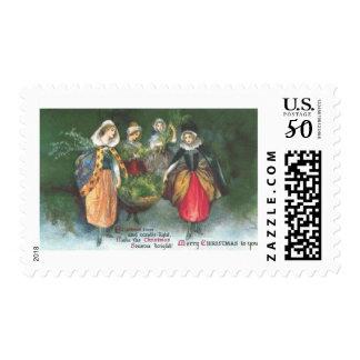 Renaissance Women Vintage Christmas Postage