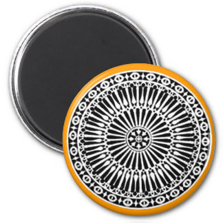 RENAISSANCE ,yellow orange 2 Inch Round Magnet