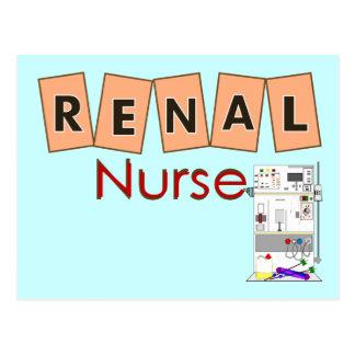 Renal Nurse Fresenius Machine Design Postcard
