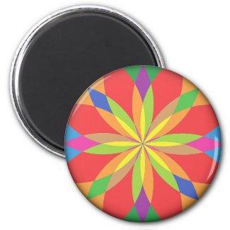 Renascence Bright Vibrant Colors Fridge Magnet! magnet