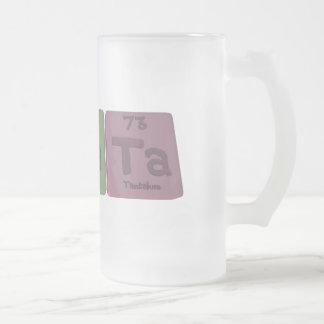 Renata  as Rhenium Sodium Tantalum Frosted Glass Beer Mug