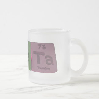 Renata  as Rhenium Sodium Tantalum Frosted Glass Coffee Mug