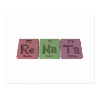 Renata  as Rhenium Sodium Tantalum Postcard