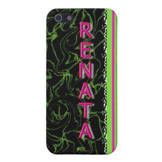 RENATA Green & Black Marble Design Ipod Touch Case