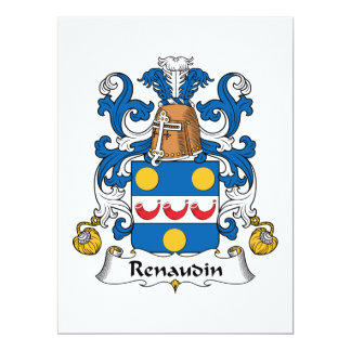 Renaudin Family Crest 6.5x8.75 Paper Invitation Card