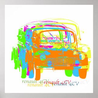 Renault 4CV poster