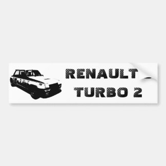 RENAULT 5 TURBO 2 BUMPER STICKER