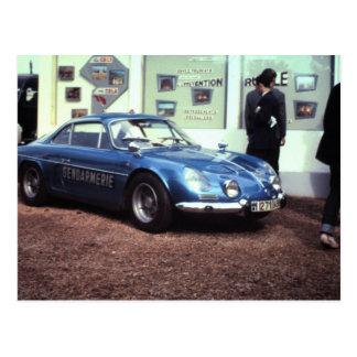 Renault alpino en Le Mans 1968 Postales