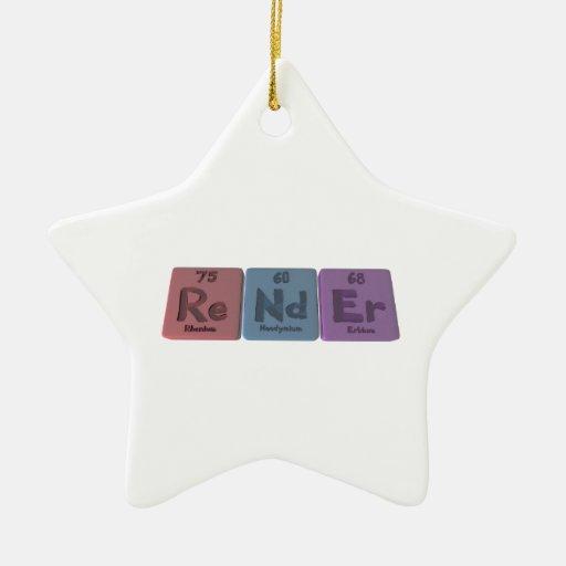 Render-Re-Nd-Er-Rhenium-Neodymium-Erbium.png Adorno Navideño De Cerámica En Forma De Estrella