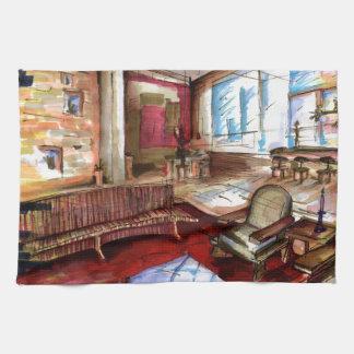 """""""Rendering"""" by Thompson Kellett Kitchen Towel"""