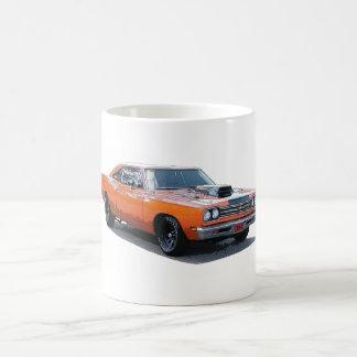 Rendering of an orange 1967 Plymouth Roadrunner Coffee Mug