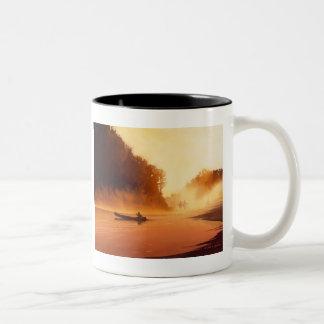 """Rendevous"" River Watercolor Art Two-Tone Coffee Mug"