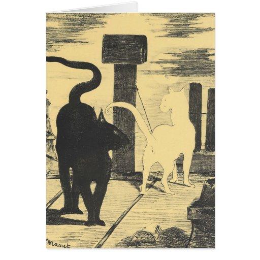 Rendevouz de gatos de Eduardo Manet Tarjeton