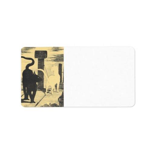 Rendevouz of Cats by Edouard Manet Custom Address Label