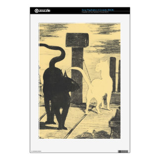 Rendevouz of Cats by Edouard Manet PS3 Skin