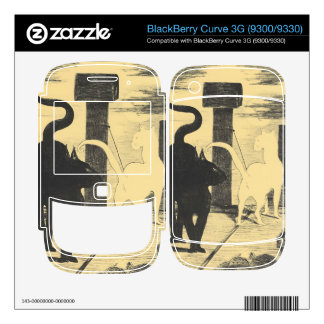 Rendevouz of Cats by Edouard Manet BlackBerry Curve 3G Skins
