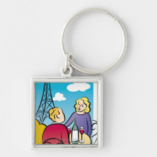 Rendezvous at Eiffel Tower Keychain