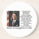 Rendezvous With Destiny Last Best Hope Reagan Beverage Coasters