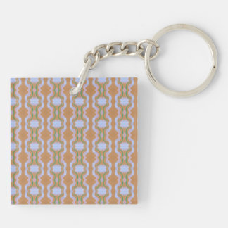 Rendition of vintage wall paper keychain