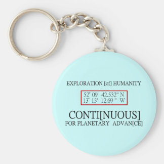 Rendlesham Binary Code Scientific UFO Conspiracy Basic Round Button Keychain