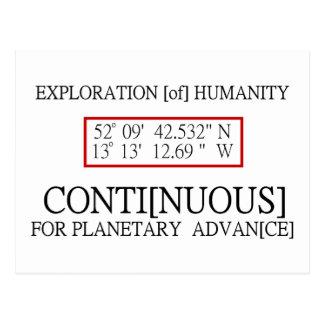 Rendlesham Binary Code Scientific UFO Conspiracy Postcard