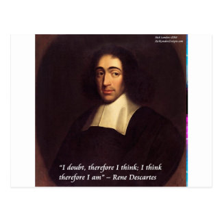 Rene Descarte I Think Therefore I Am Quote Postcard