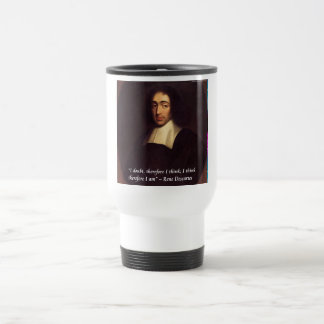 Rene Descarte I Think Therefore I Am Quote Travel Mug