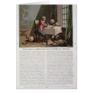 Rene Descartes (1596-1650) que escribe su syste de Tarjeta De Felicitación