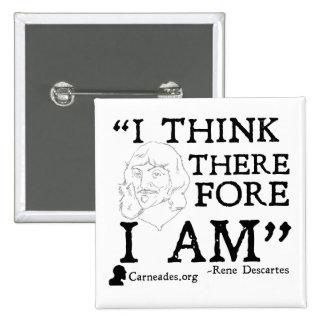 Rene Descartes Cogito Button