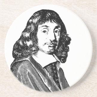 Rene Descartes Drink Coaster