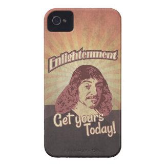Rene Descartes, Get Enlightenment! iPhone 4 Case-Mate Cobertura