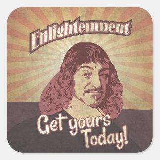 René Descartes, Get Enlightenment! Square Sticker