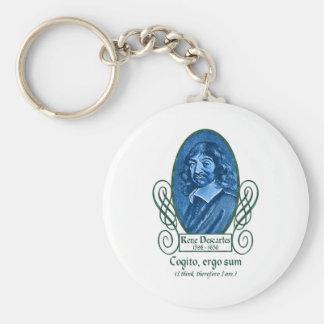 René Descartes Keychains