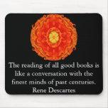Rene Descartes Literature Quote Mouse Mat