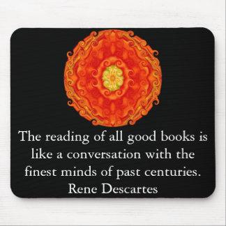 Rene Descartes Literature Quote Mouse Pad