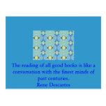 Rene Descartes Literature Quote Post Cards