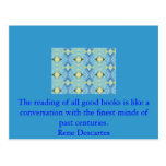 Rene Descartes Literature Quote Postcard