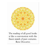 Rene Descartes Literature Quote Postcards