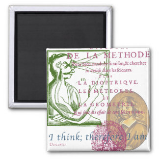 Rene Descartes Fridge Magnet