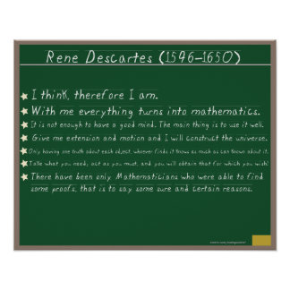 Rene Descartes Mathematics Posters Quotes
