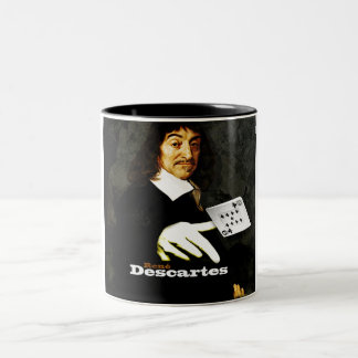 RENÉ DESCARTES PAYS Two-Tone COFFEE MUG