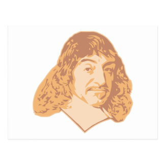 Rene Descartes Postcard