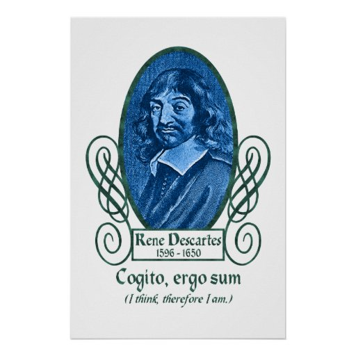 René Descartes Poster