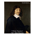 """Rene Descartes """"que pienso por lo tanto."""" Poster d"""