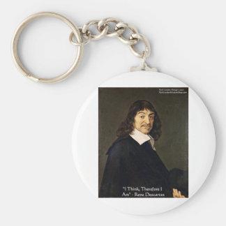 Rene Descartes que pienso por lo tanto Regalos Llaveros Personalizados