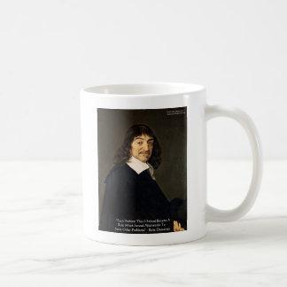 Rene Descartes Solving Problems Wisdom Quote Gifts Coffee Mug