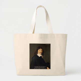 Rene Descartes Solving Problems Wisdom Quote Gifts Large Tote Bag