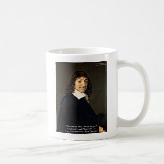 Rene Descartes Solving Problems Wisdom Quote Gifts Mugs