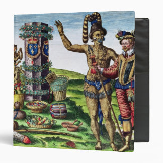 Rene Goulaine de Laudonniere  and Chief Athore 3 Ring Binder